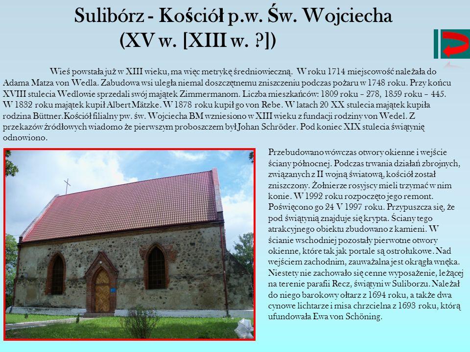 Sulibórz - Kościół p.w. Św. Wojciecha
