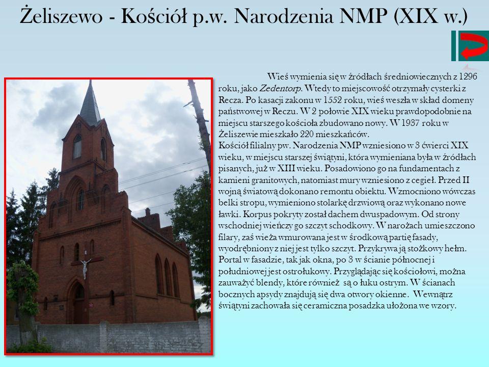 Żeliszewo - Kościół p.w. Narodzenia NMP (XIX w.)