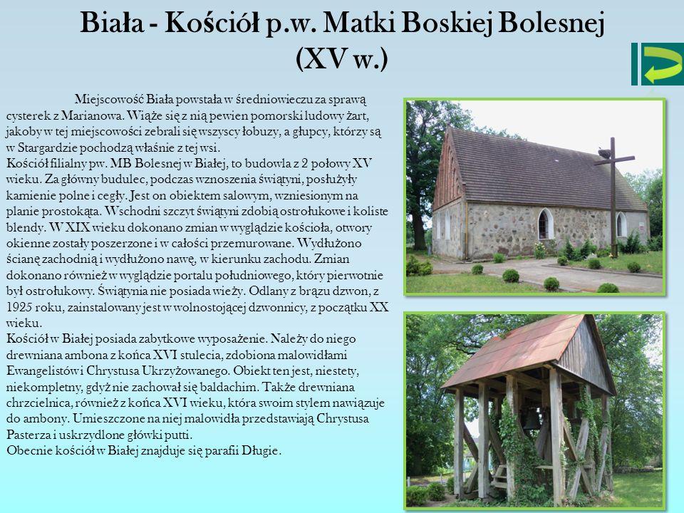 Biała - Kościół p.w. Matki Boskiej Bolesnej (XV w.)