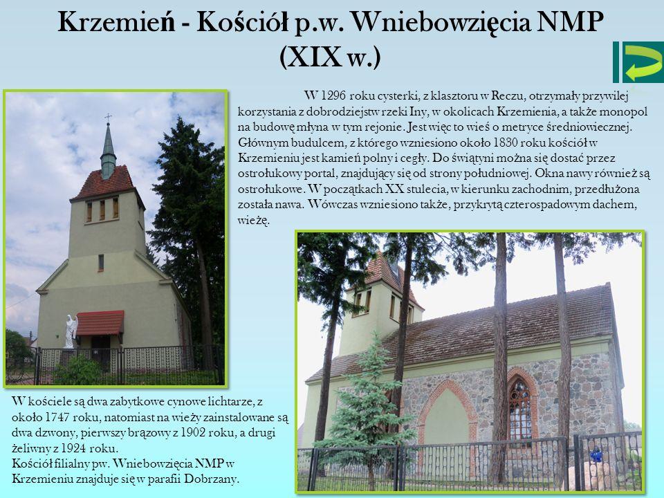 Krzemień - Kościół p.w. Wniebowzięcia NMP