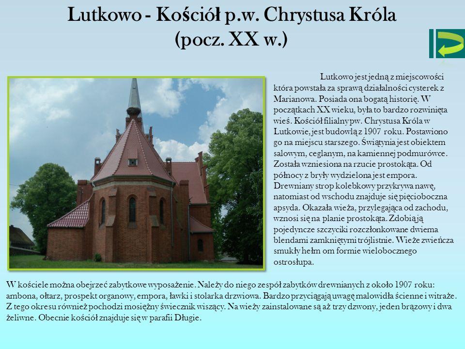 Lutkowo - Kościół p.w. Chrystusa Króla