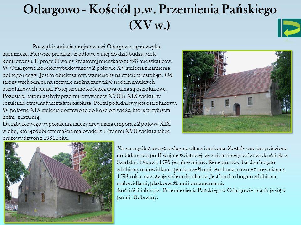 Odargowo - Kościół p.w. Przemienia Pańskiego