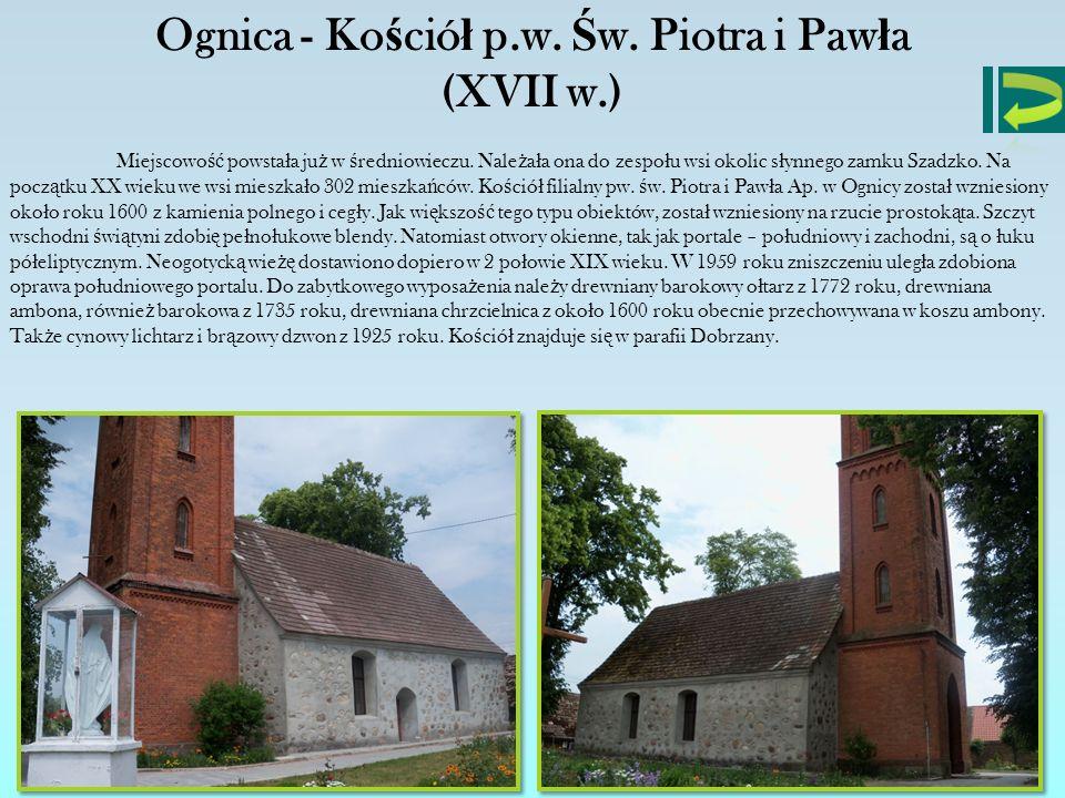 Ognica - Kościół p.w. Św. Piotra i Pawła