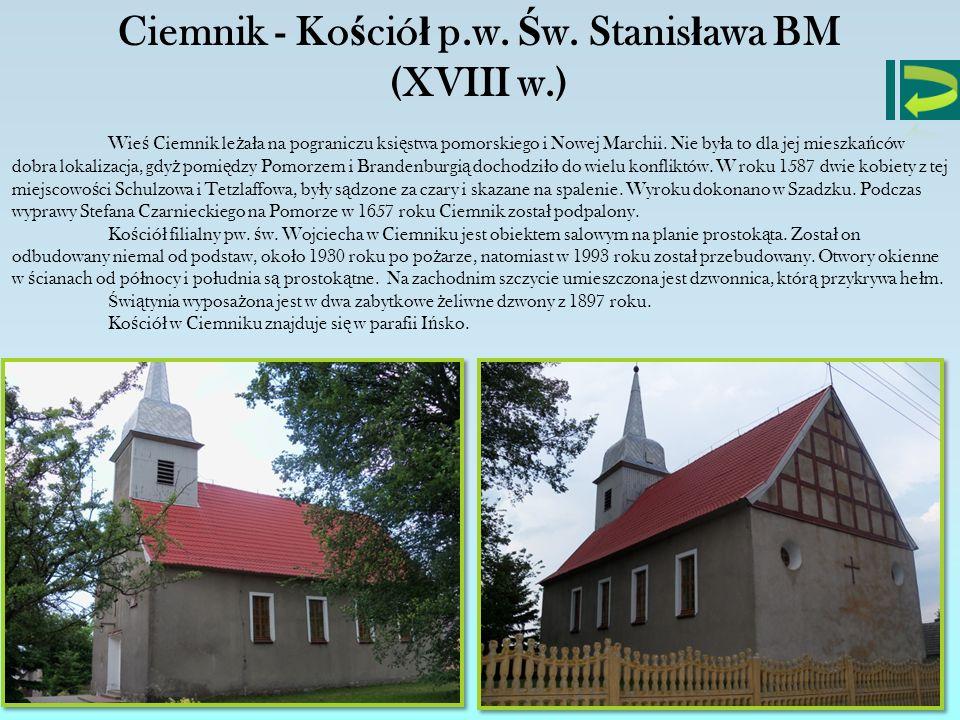 Ciemnik - Kościół p.w. Św. Stanisława BM (XVIII w.)