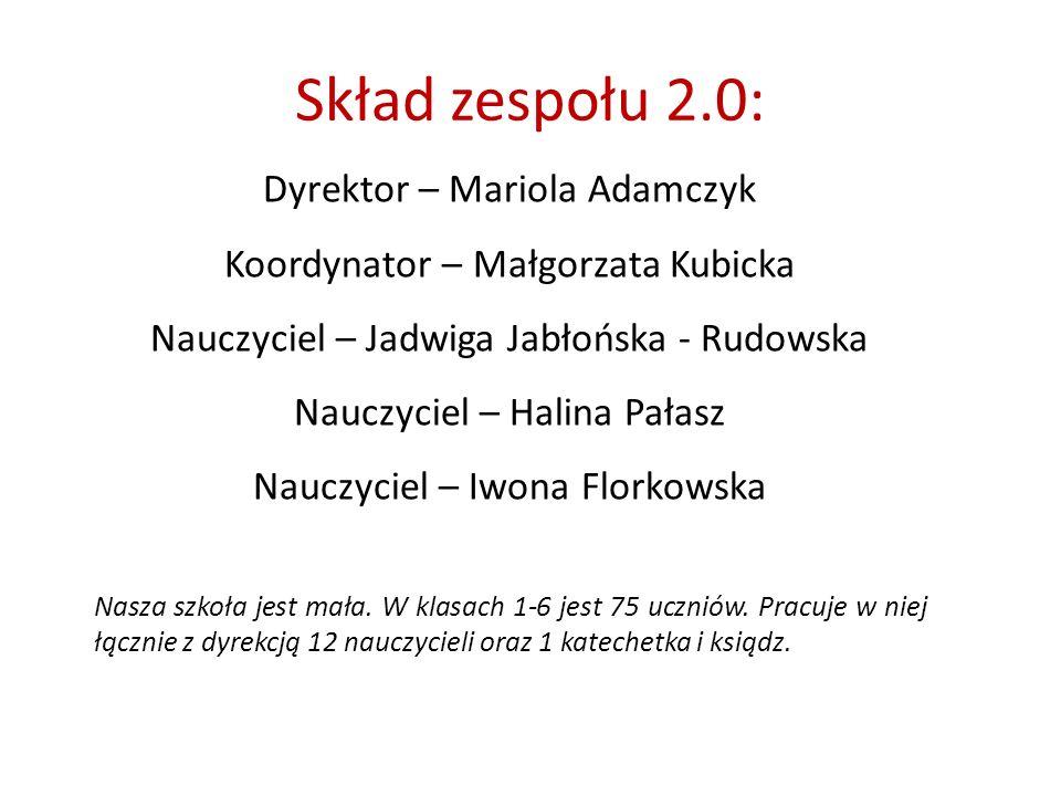 Skład zespołu 2.0: Dyrektor – Mariola Adamczyk