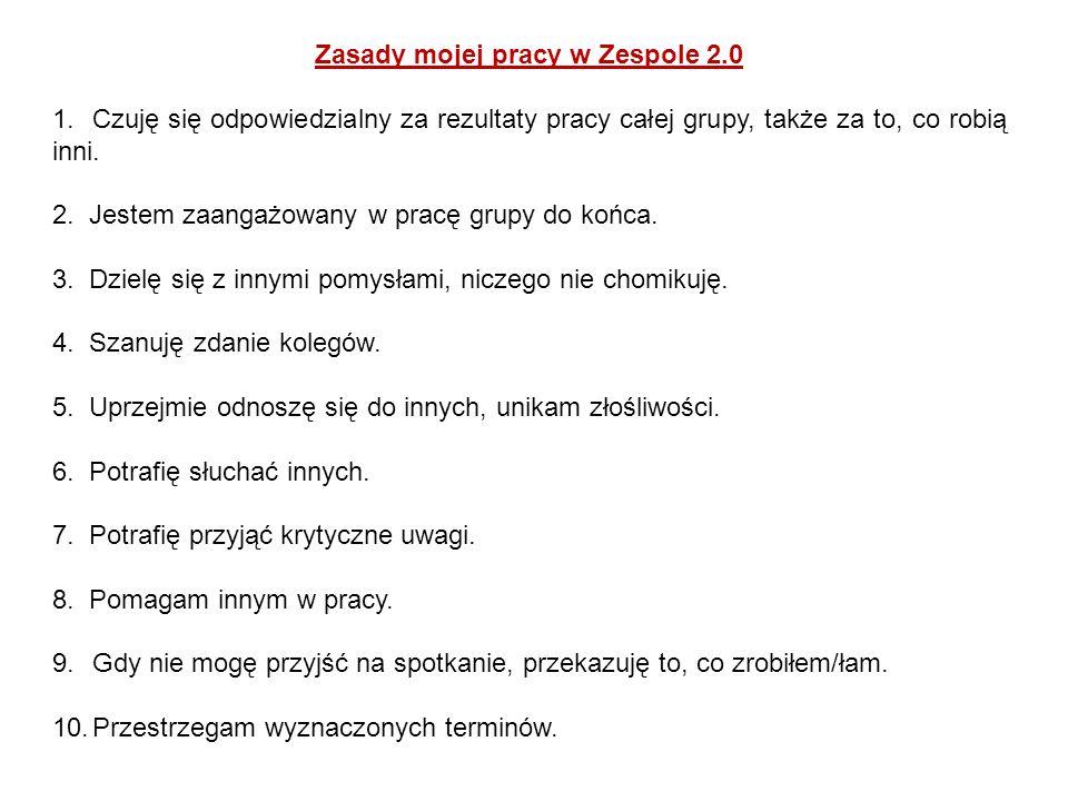 Zasady mojej pracy w Zespole 2.0