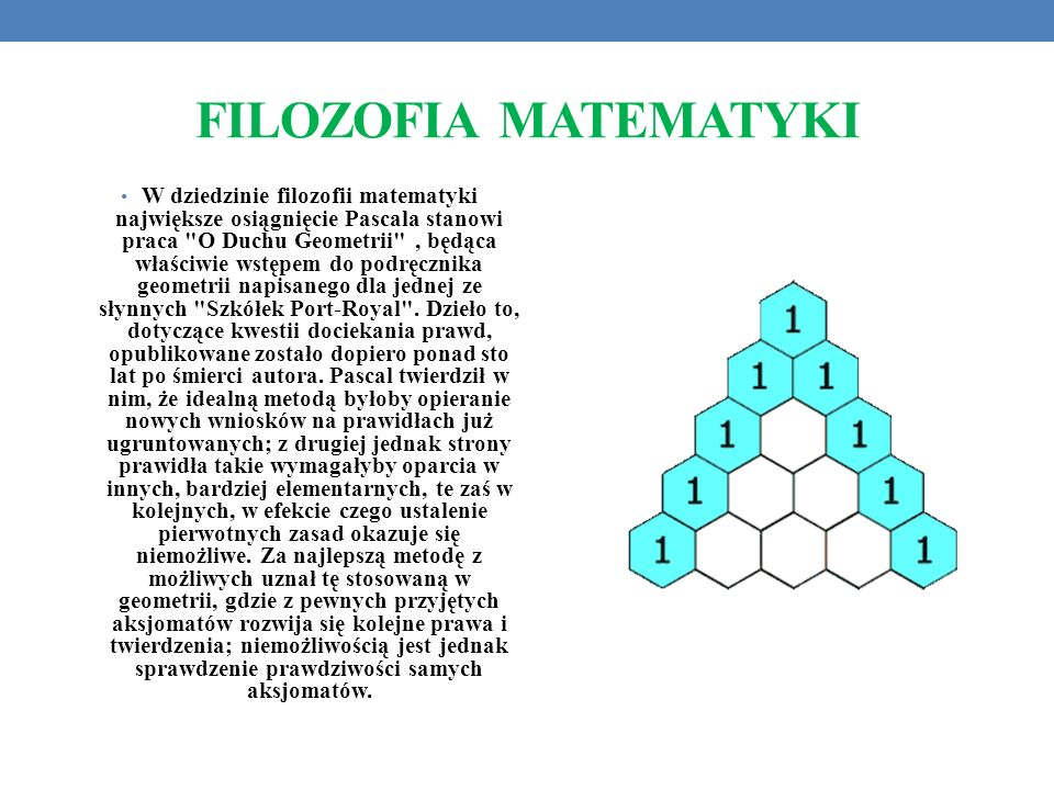 FILOZOFIA MATEMATYKI