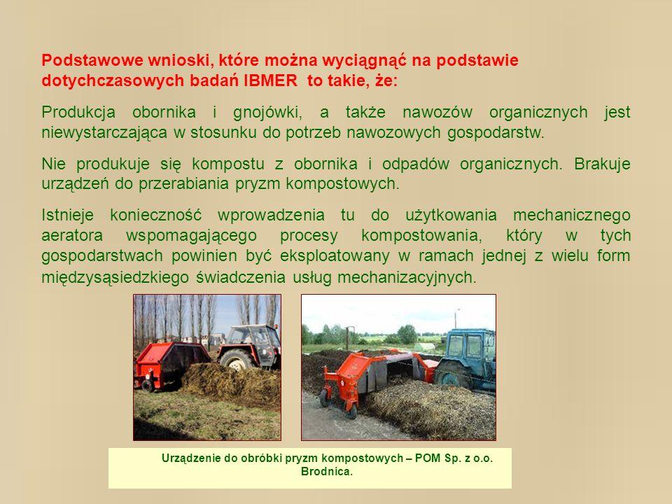 Urządzenie do obróbki pryzm kompostowych – POM Sp. z o.o. Brodnica.