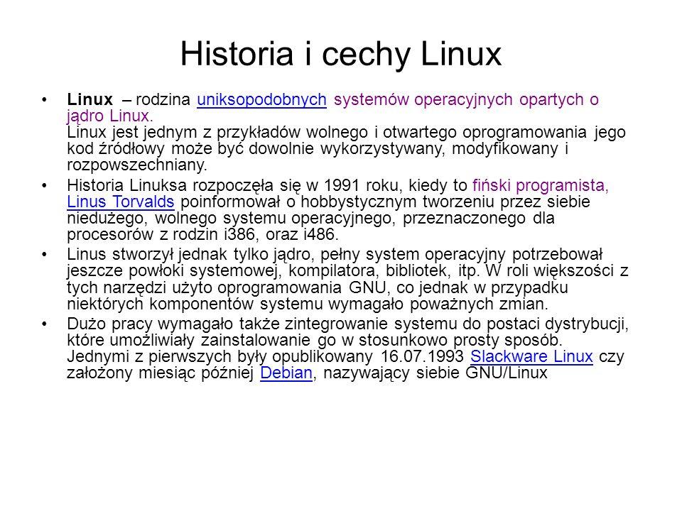Historia i cechy Linux