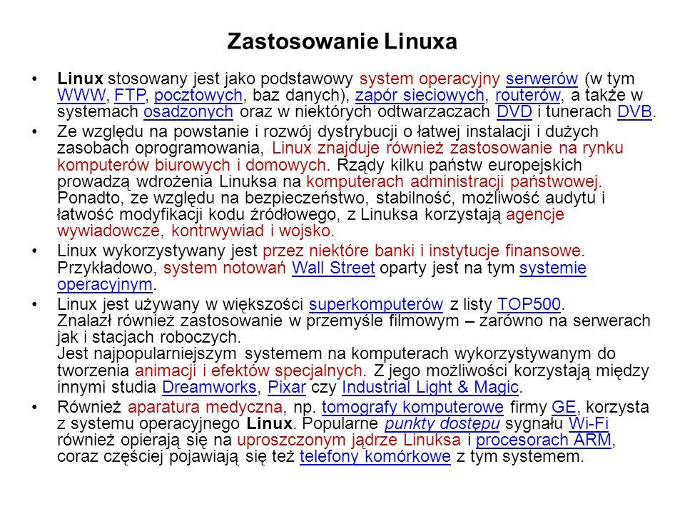 Zastosowanie Linuxa