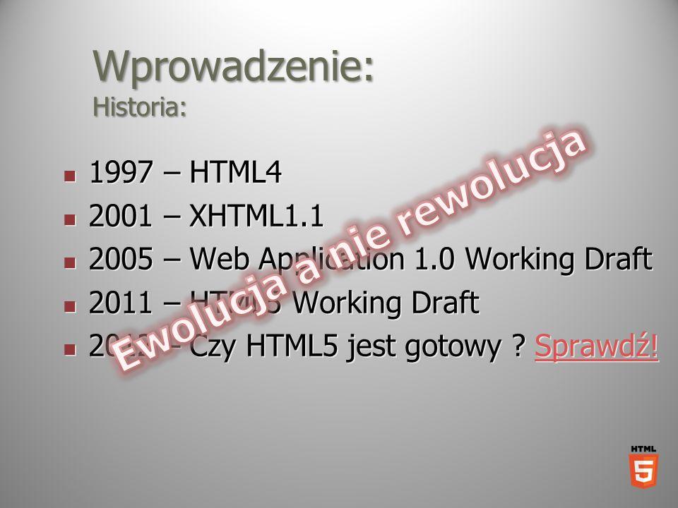 Wprowadzenie: Historia: