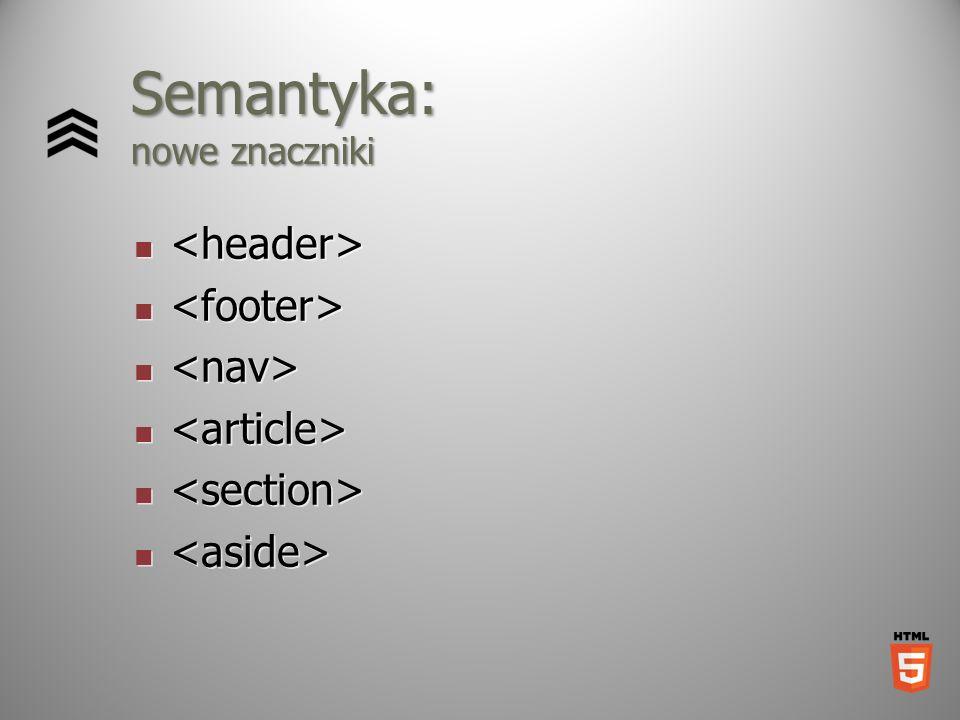 Semantyka: nowe znaczniki