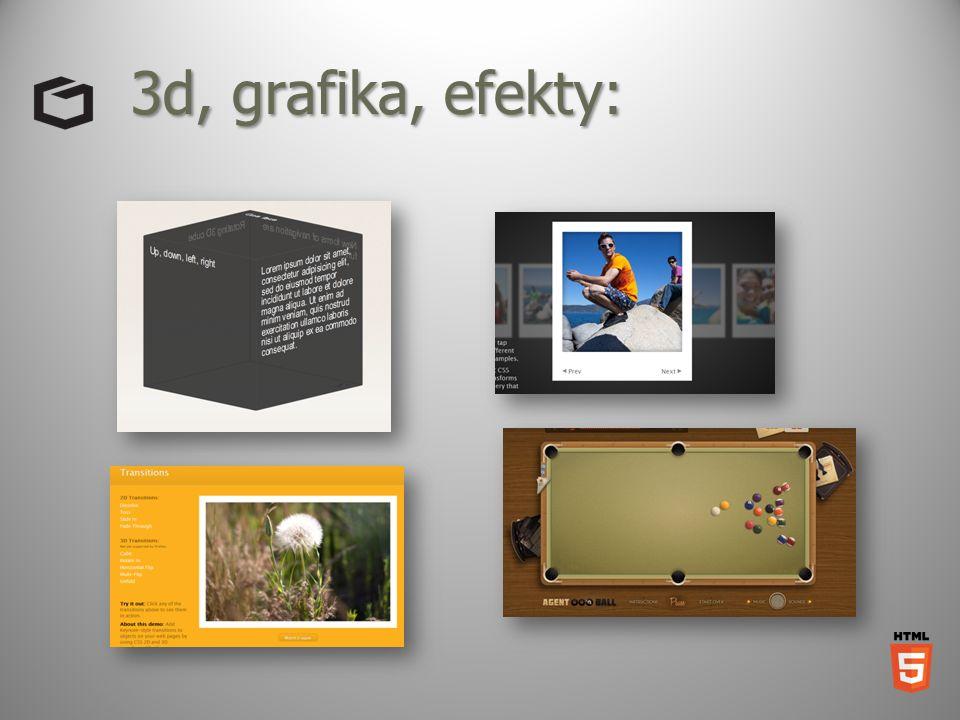 3d, grafika, efekty: