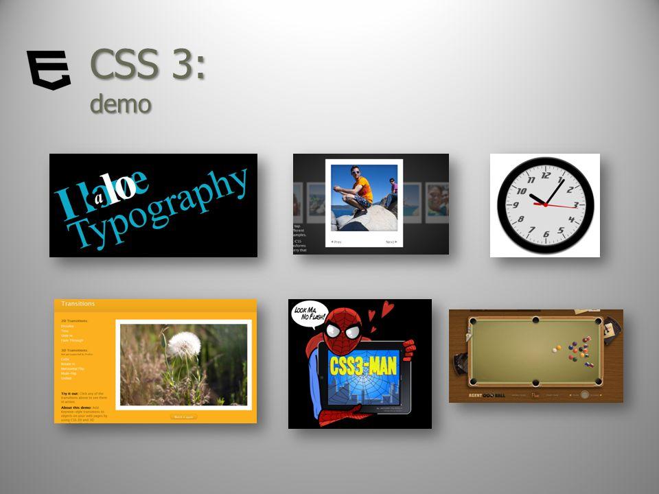 CSS 3: demo