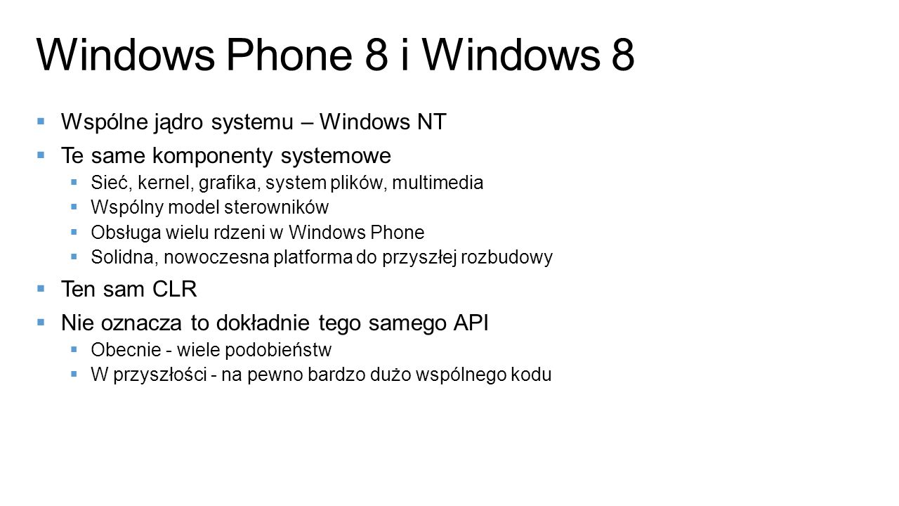 Windows Phone 8 i Windows 8
