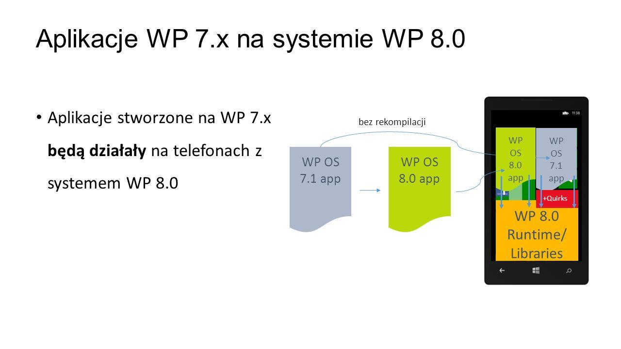 Aplikacje WP 7.x na systemie WP 8.0