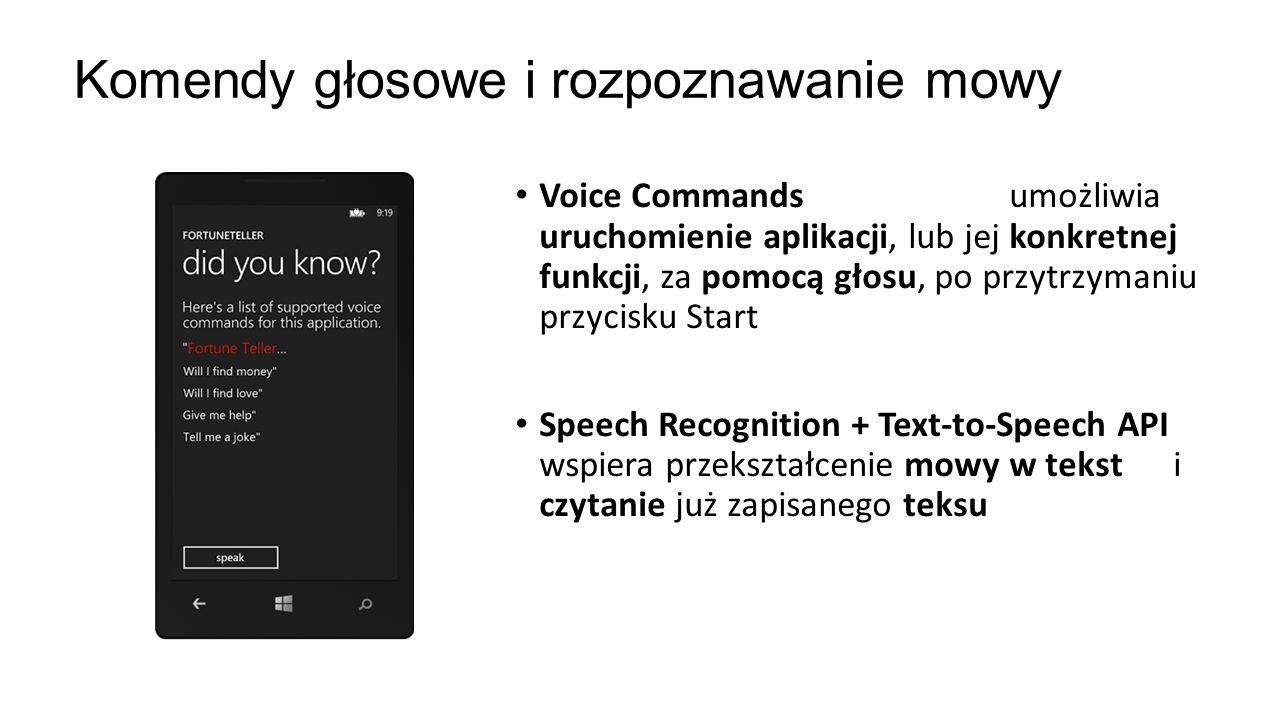 Komendy głosowe i rozpoznawanie mowy