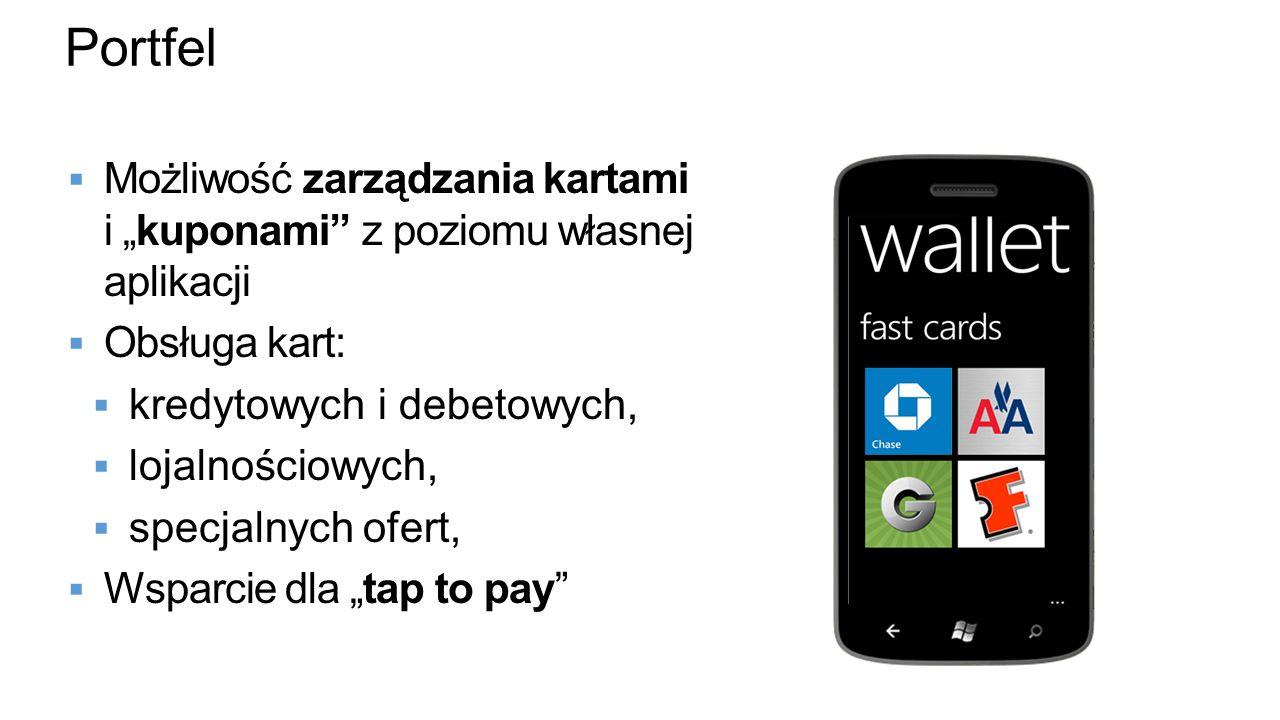 """Portfel Możliwość zarządzania kartami i """"kuponami z poziomu własnej aplikacji. Obsługa kart:"""