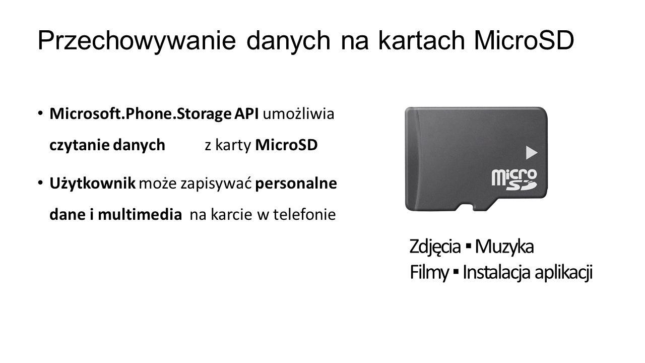 Przechowywanie danych na kartach MicroSD