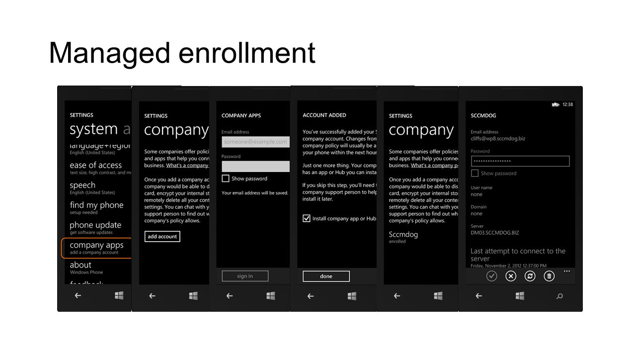 Managed enrollment Build 2012 3/28/2017