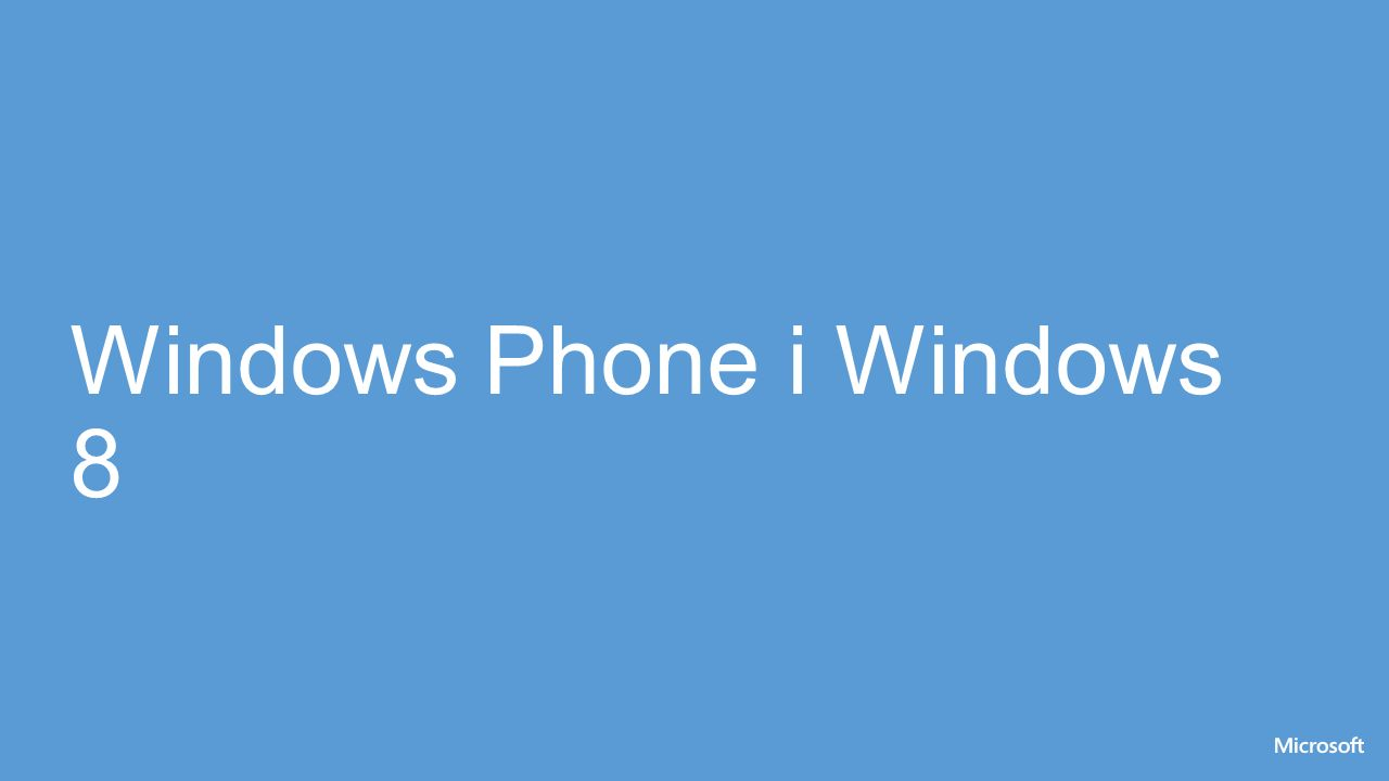Windows Phone i Windows 8