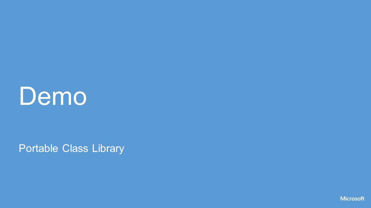 Demo Portable Class Library