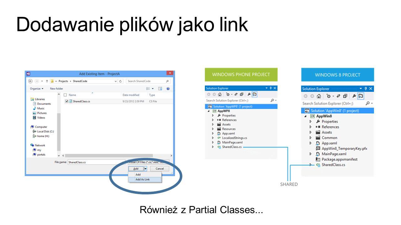 Dodawanie plików jako link