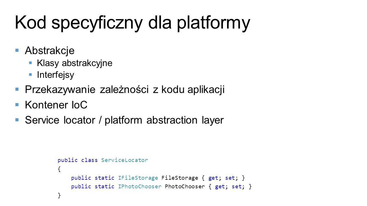 Kod specyficzny dla platformy