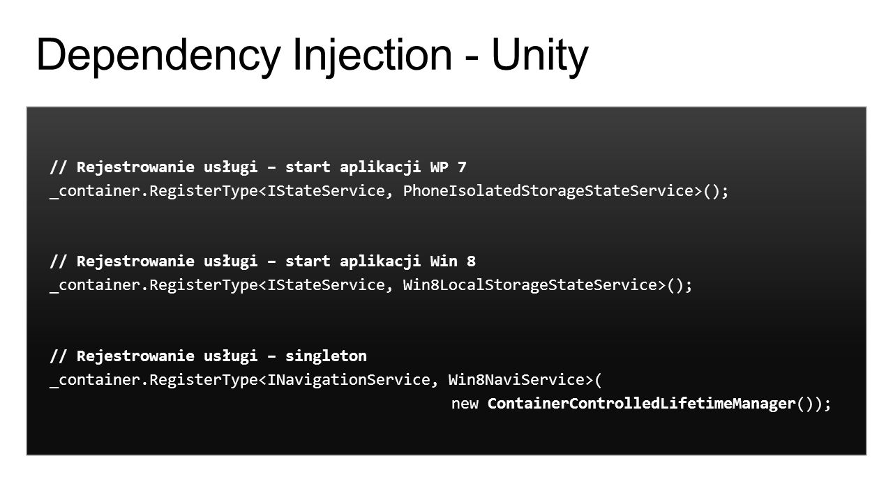 Dependency Injection - Unity