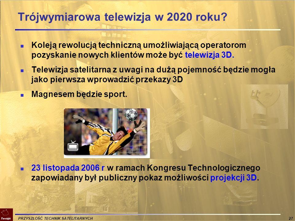 Trójwymiarowa telewizja w 2020 roku