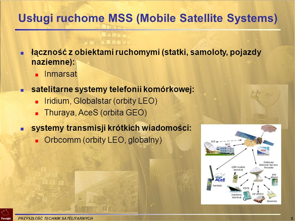 Usługi ruchome MSS (Mobile Satellite Systems)
