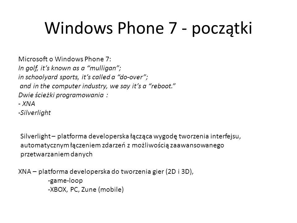 Windows Phone 7 - początki