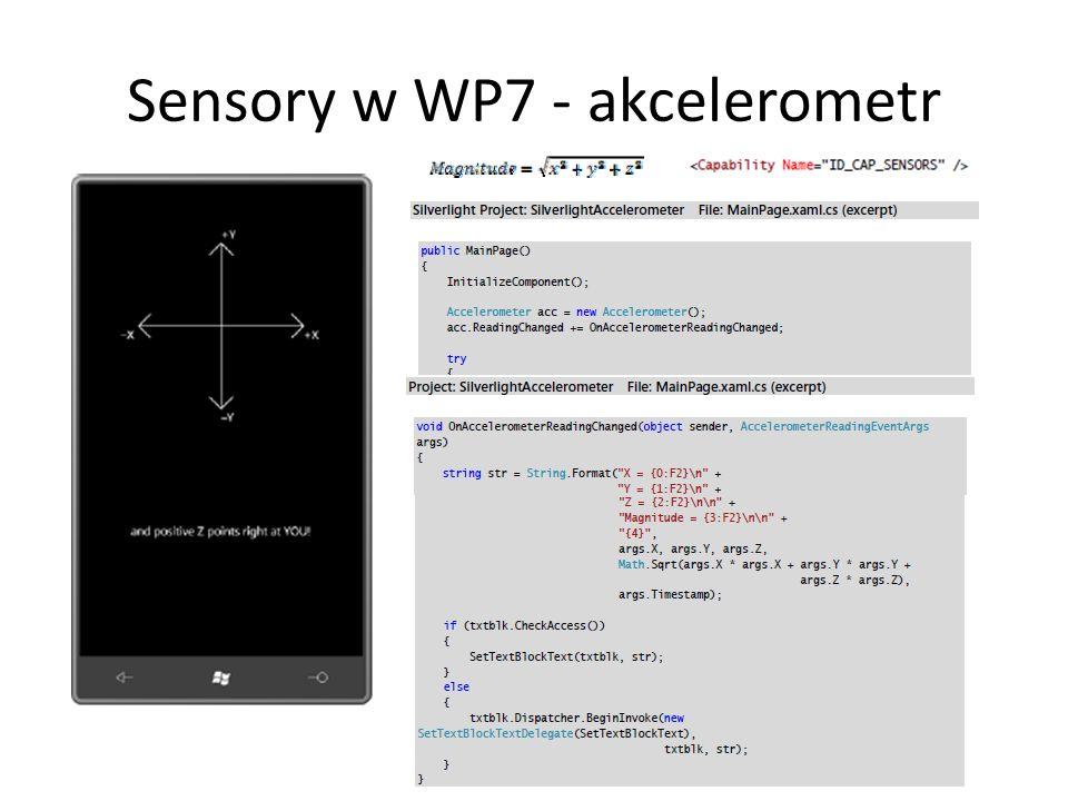Sensory w WP7 - akcelerometr