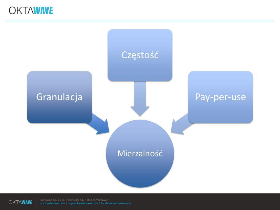 Granulacja Częstość Pay-per-use Mierzalność