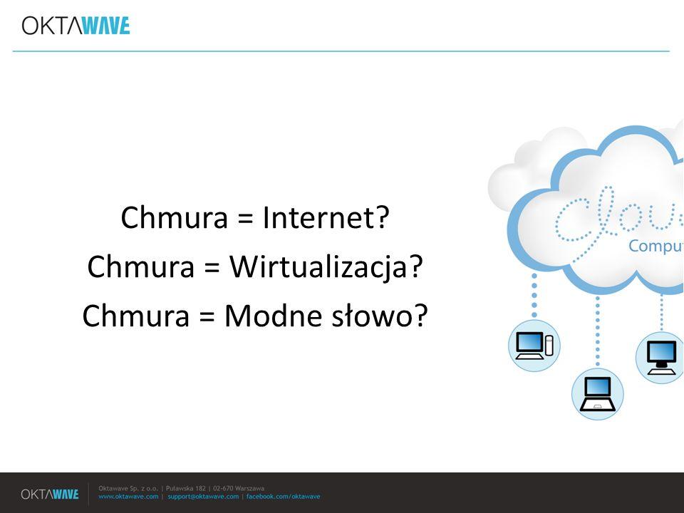 Chmura = Internet Chmura = Wirtualizacja Chmura = Modne słowo