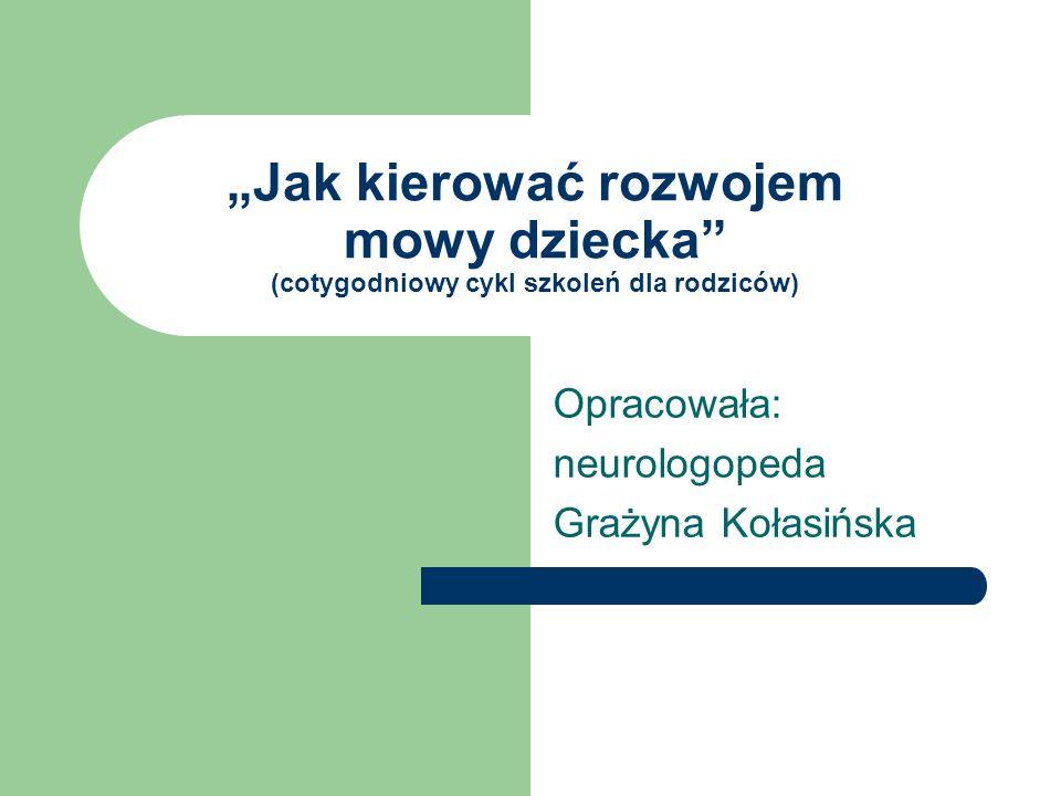Opracowała: neurologopeda Grażyna Kołasińska
