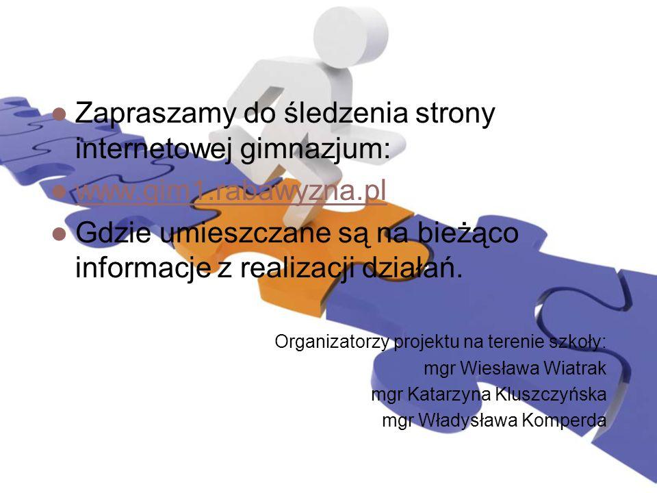 Zapraszamy do śledzenia strony internetowej gimnazjum: