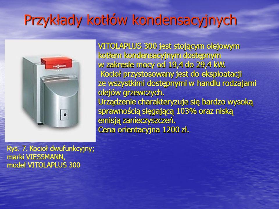 Przykłady kotłów kondensacyjnych