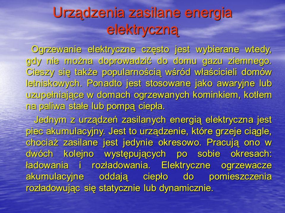Urządzenia zasilane energia elektryczną