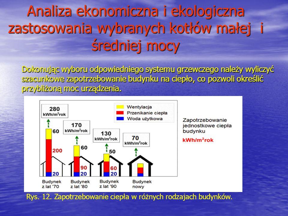 Analiza ekonomiczna i ekologiczna zastosowania wybranych kotłów małej i średniej mocy