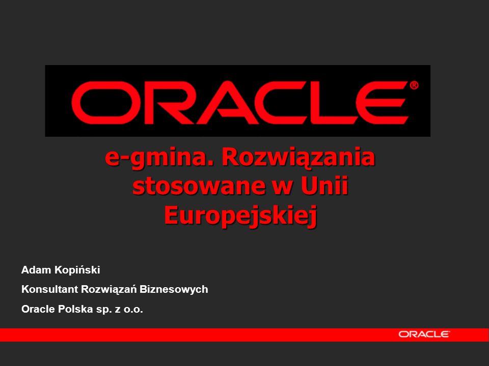 e-gmina. Rozwiązania stosowane w Unii Europejskiej