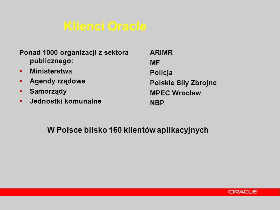 Klienci Oracle W Polsce blisko 160 klientów aplikacyjnych