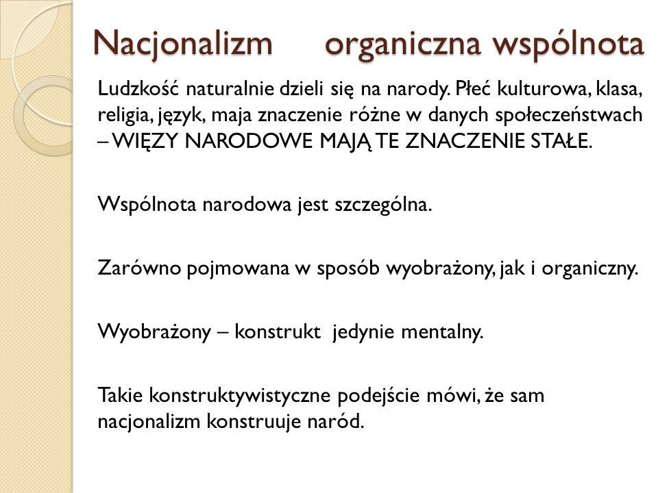Nacjonalizm organiczna wspólnota