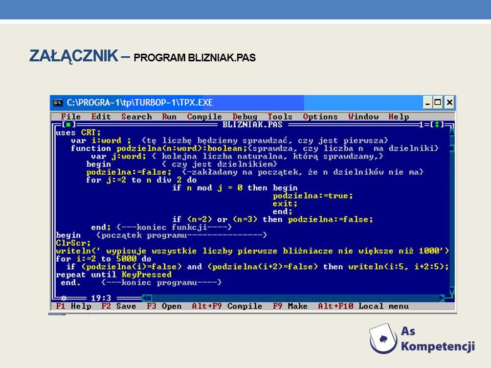 Załącznik – program blizniak.pas