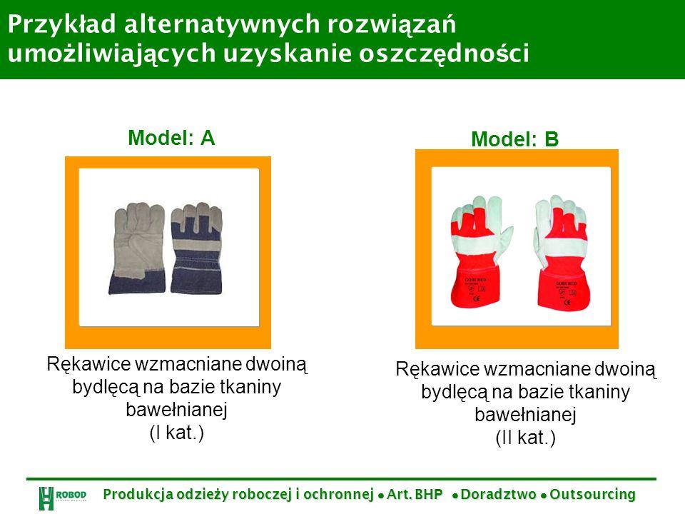Przykład alternatywnych rozwiązań umożliwiających uzyskanie oszczędności