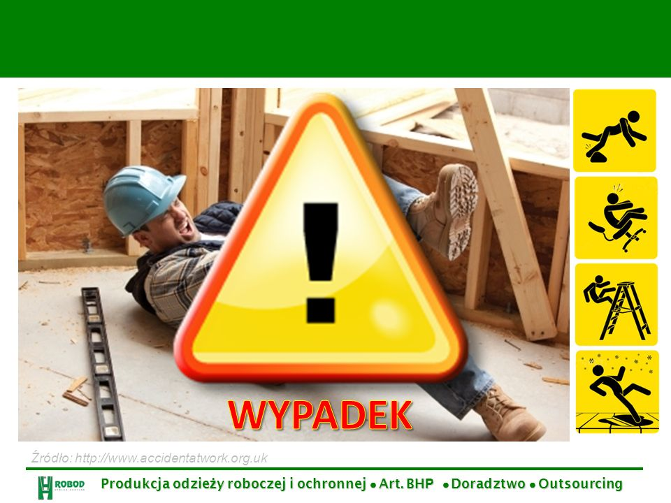 WYPADEK Źródło: http://www.accidentatwork.org.uk