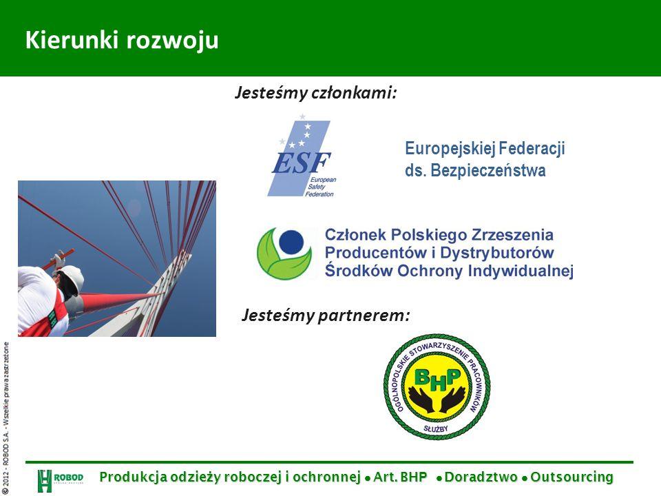 Kierunki rozwoju Jesteśmy członkami: Jesteśmy partnerem: