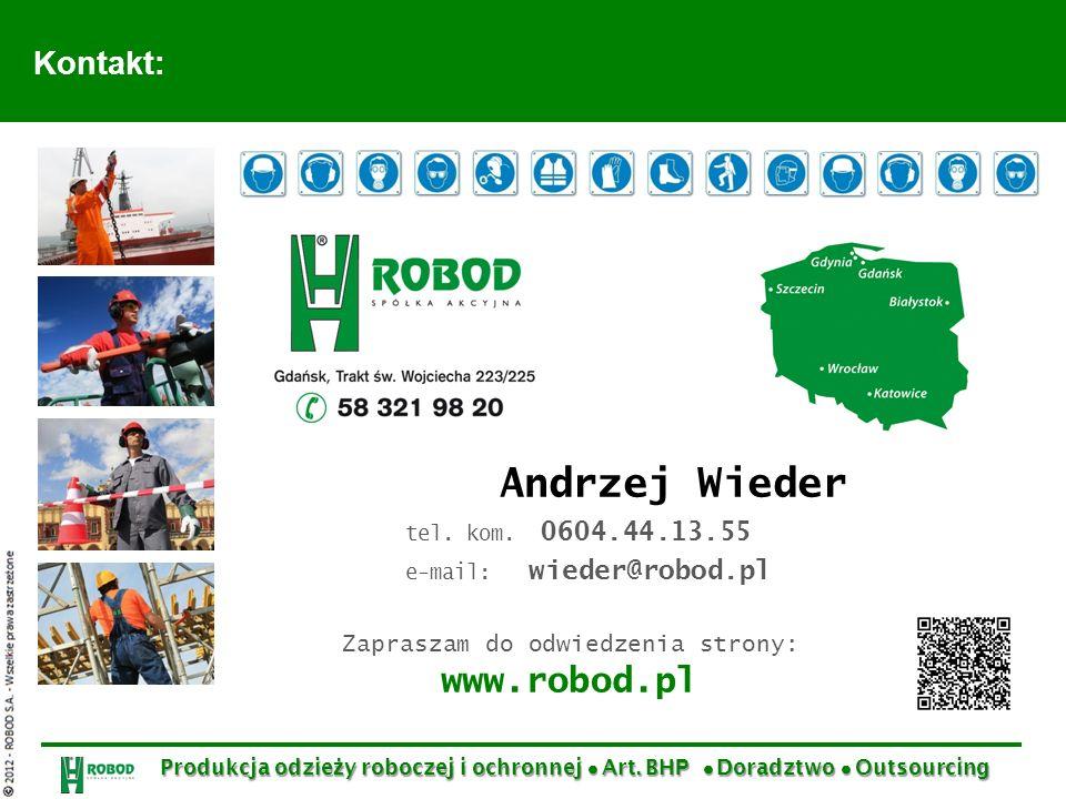 Zapraszam do odwiedzenia strony: www.robod.pl