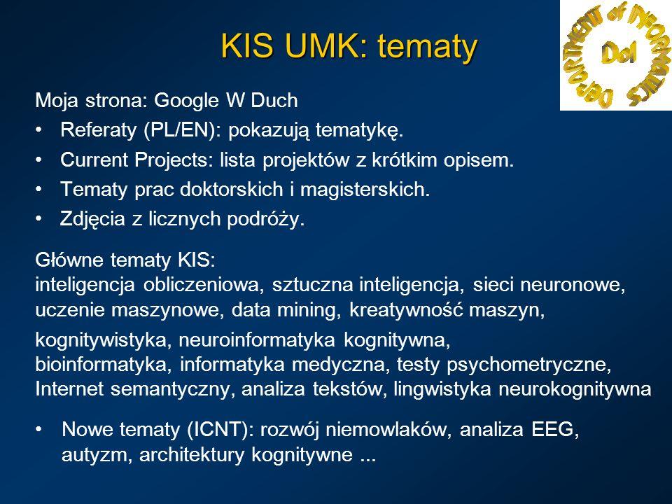KIS UMK: tematy Moja strona: Google W Duch