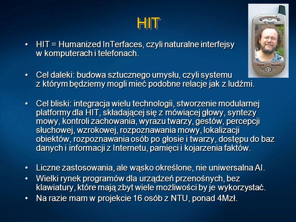 HITHIT = Humanized InTerfaces, czyli naturalne interfejsy w komputerach i telefonach.